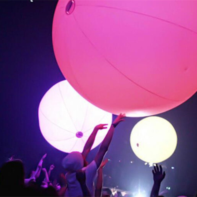 Children's Play Glow Toys Bar/Music Festival Interactive LED Throwing Ball Party Touch Color Changing Balloon Light Beach Ball