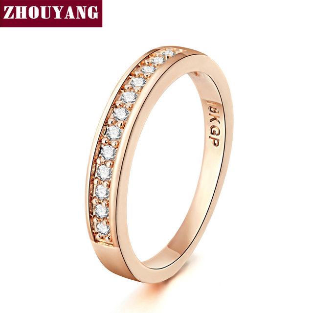 ZHOUYANG Wedding Ring For Women Lover Classic Micro-inserts Cubic Zirconia Weddi