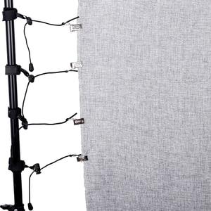 Image 1 - Pinzas de Fondo de estudio para fotografía, 8 unids/lote, abrazaderas de fondo, soporte de abrazadera, Clip de fondo, soportes de muselina, clips