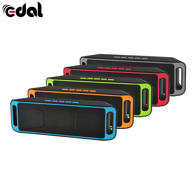 EDAL Wireless Bluetooth 3.0 Speaker High-fidelity Bass Sound FM Radio USB Mic TF card Function Stereo Subwoofer Dual Loudspeaker