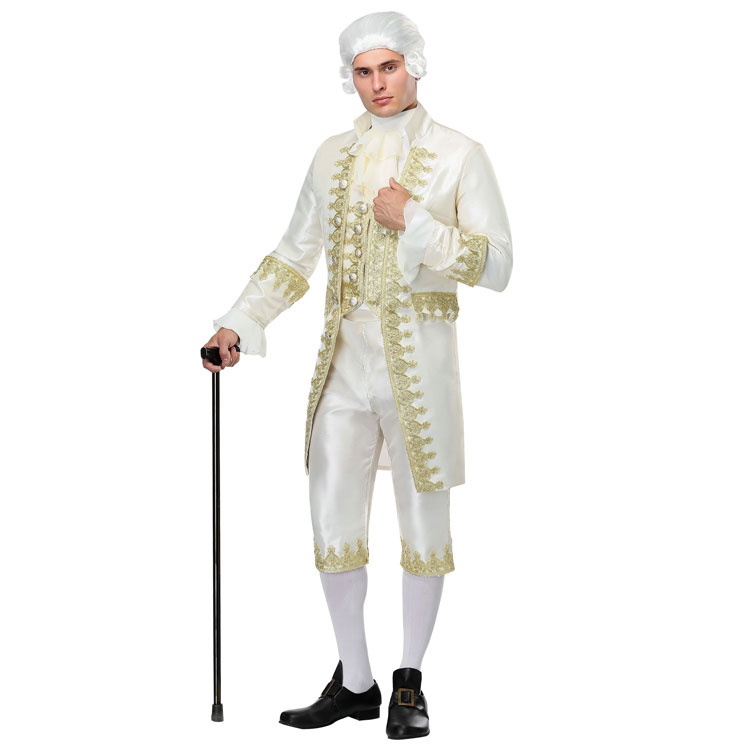 Irek New Party Halloween Costume Renaissance Adult Male French King Louis XVI Gentleman Judge Cosplay Costume