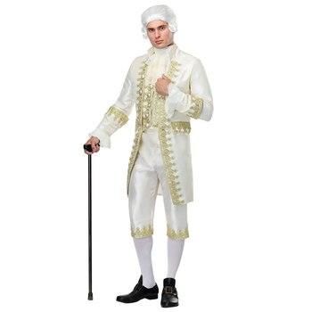 840b601e8 Irek nuevo Partido de Halloween traje renacentista hombre adulto rey  francés Louis XVI Caballero juez Cosplay traje