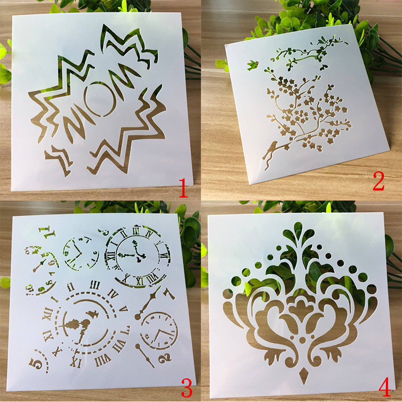 1pc New 'WOW'DIY Drawing Template Ruler Promotional Gift Stationery School Supplies Xmas Gift Multi Ruler 13*13cm