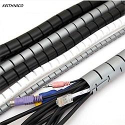 KEITHNICO 1 M 3FT Kabel Draht Wrap Organizer Spirale Rohr Kabel Wickler Schnur Protector Flexible Management Draht Lagerung Rohr 16mm