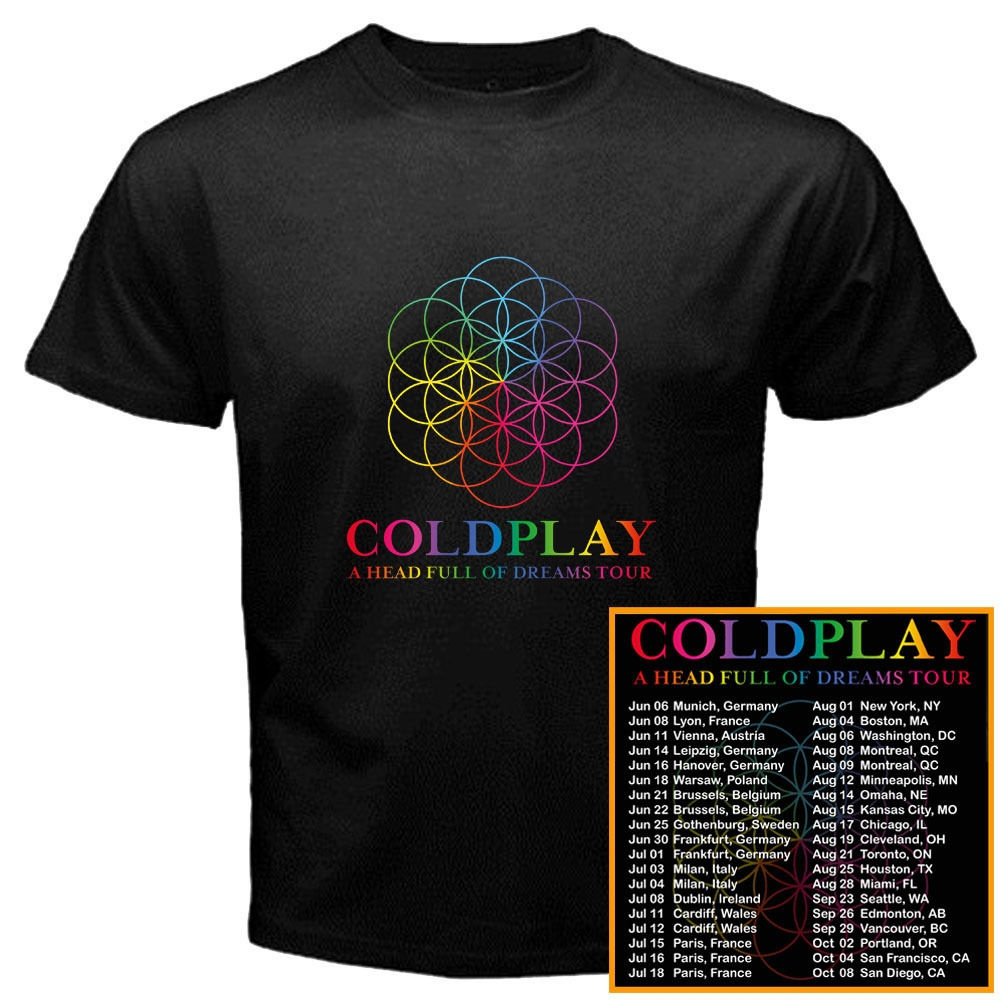Online T Shirt Printing Mens Short Coldplay A Head Full Of Dreams
