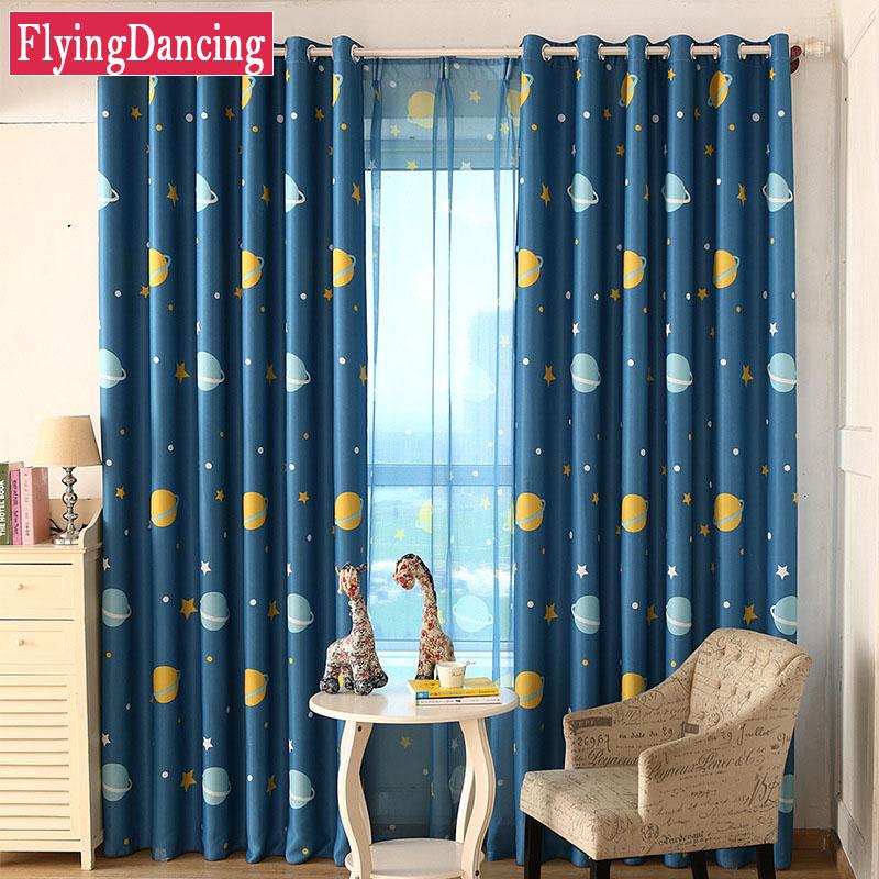 planeta azul estrella cortinas para la habitacin del beb impresa encantadora de dibujos animados nios dormitorio