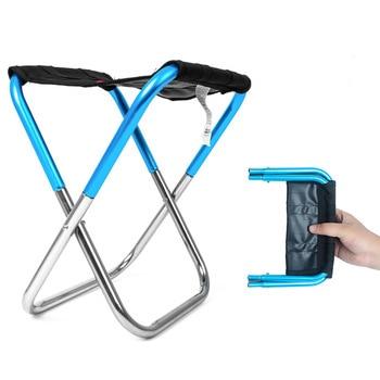 Nuevo estilo plegable al aire libre silla Simple Mini Taboret fácil de llevar Camping pesca cola se relajación taburete con bolsa de Buggy