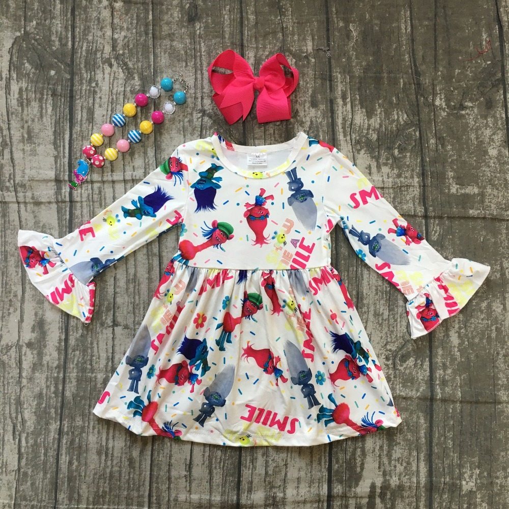 fall/winter baby girls milk silk cotton dress white troll floral ruffle long sleeve children clothes boutique match accessories new fall winter baby girls milk silk cotton dress navy perple floral flower striped ruffle long sleeve children clothes boutique
