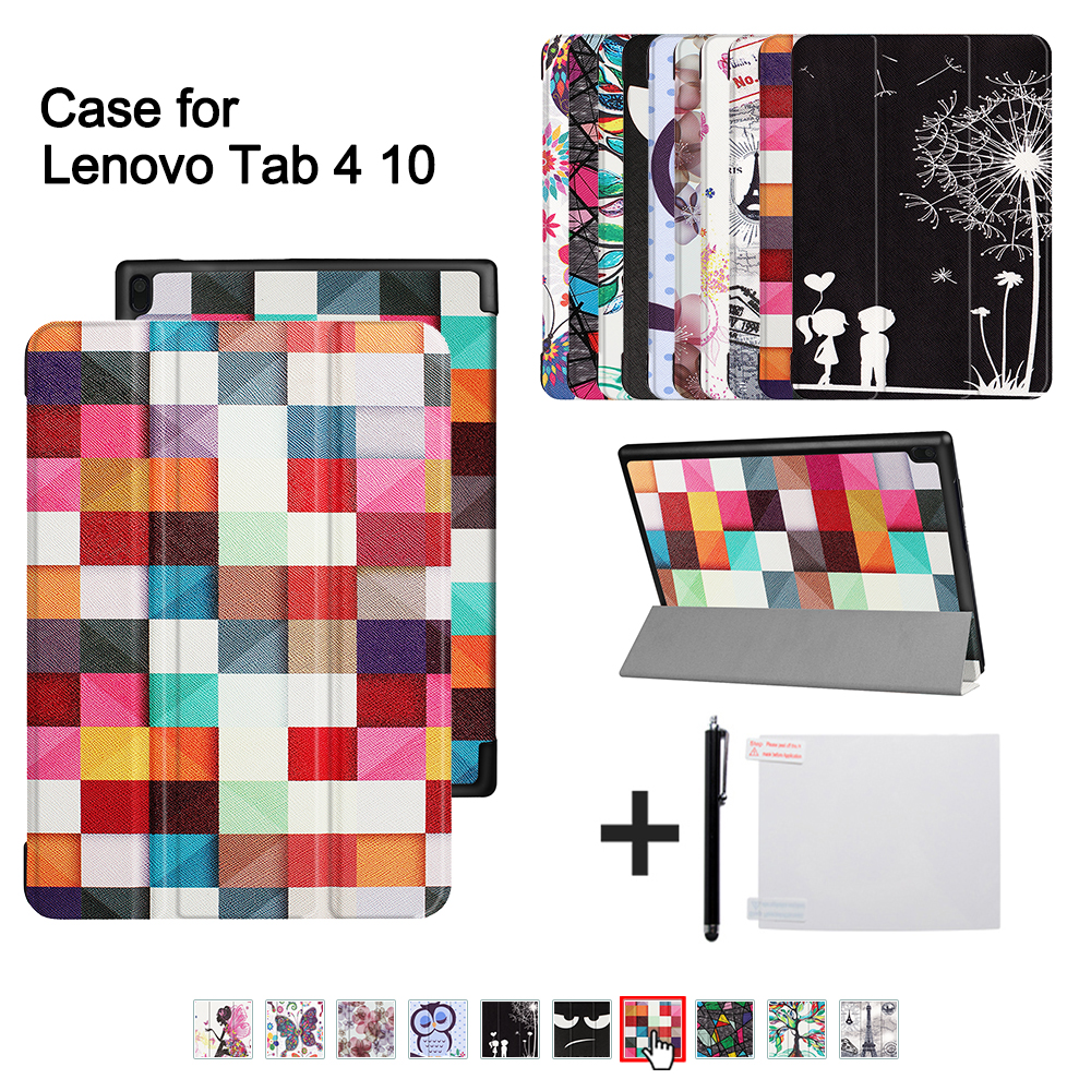 Ultra slim cover For Lenovo TAB 4 10 Protective Smart cover for lenovo tab410 Tab4 10 TB-X304N F Cases 10.1 (2017 release)+gitf case for lenovo tab 4 10 smart leather ultra slim light pc cases colorful back tpu cover tab4 10 tb x304f tb x304n