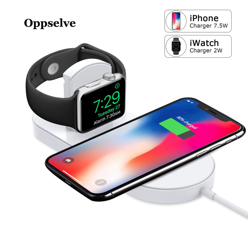 Oppselve 2 in 1 Qi Wireless Charger For iPhone X 8 Xs Max Xr font b