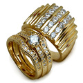 Set 18k Gold filled MENS WOMENS WEDDING ENGAGEMENT RING BAND R117,179 men size 9-15; women size 6-10