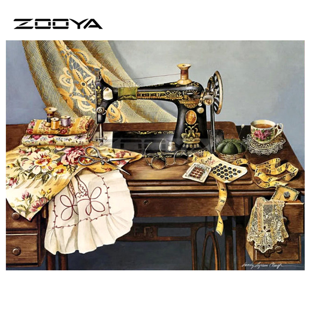 Zooya 5d Diy Diamond Embroidery Pretty Woman With Wolf Flower
