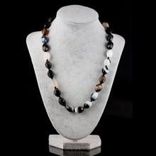 Натуральный камень ожерелье Агаты ожерелье с кварцевым камнем 23 Цвета на выбор 10x14 мм 18 дюймов