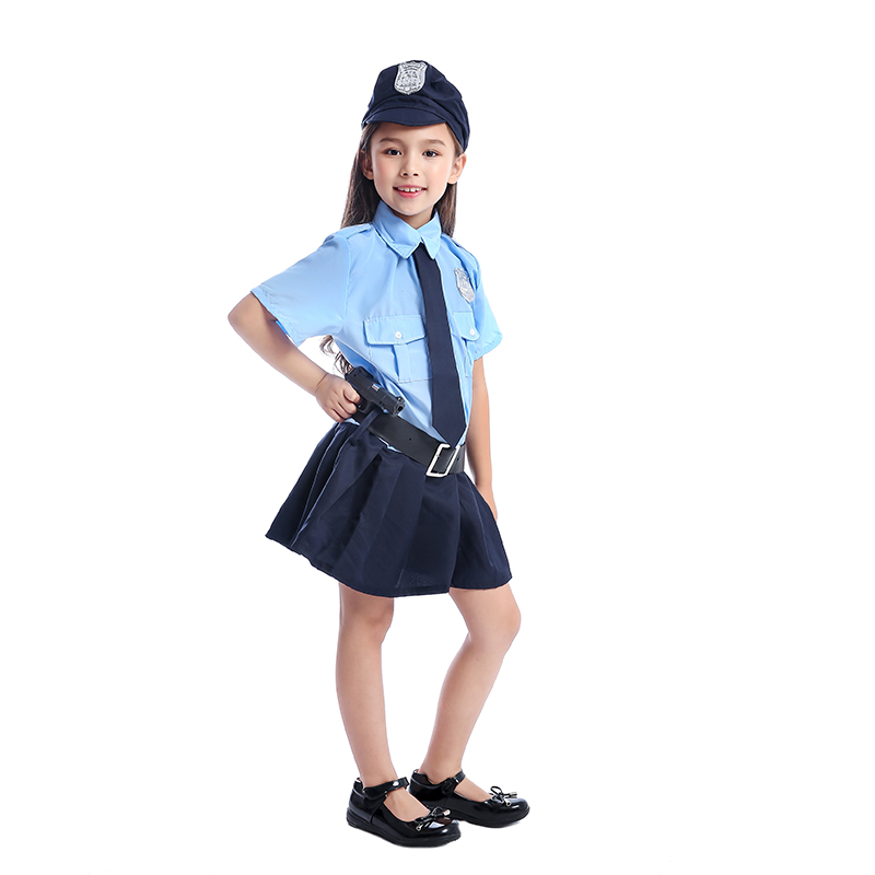 Image 4 - Cute Girls Tiny Cop Police Officer Playtime Cosplay Uniform Kids Coolest Halloween Costume-in Girls Costumes from Novelty & Special Use