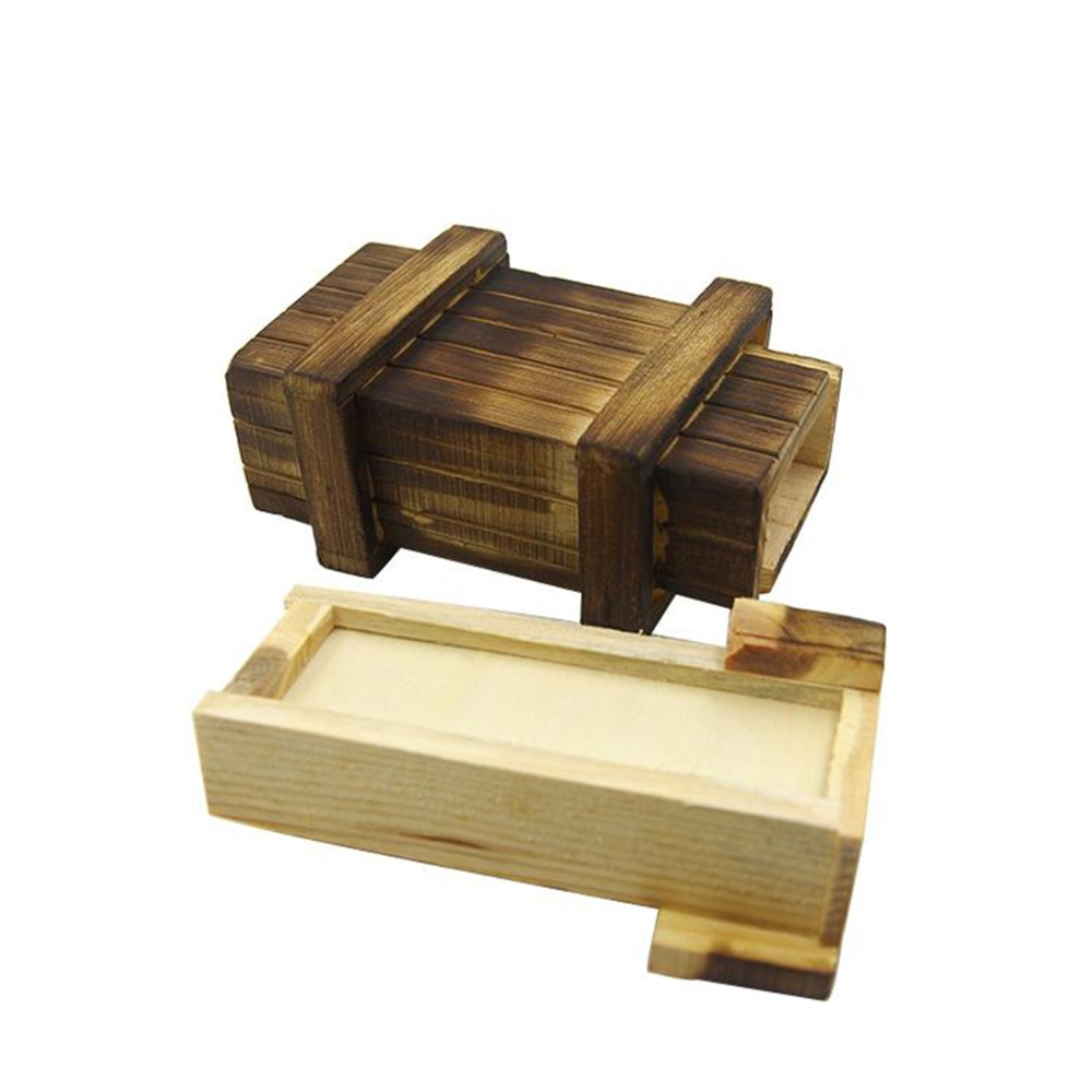 Children Puzzle Box with Secret Drawer Brain Educational Baby Kid 3D Puzzles Box Toy Funny Magic Big Wood Puzzles Boxes Toy