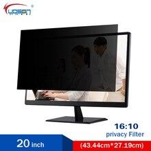 "20"" Widescreen Monitor Privacy Screen PET material (16:10) Desktops LCD Monitors Screen Protectors & Filters Free Shipping(China (Mainland))"