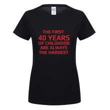 Omnitee Cool 40 Years Old T Shirts Women O Neck Cotton Short Sleeve Birthday Gift