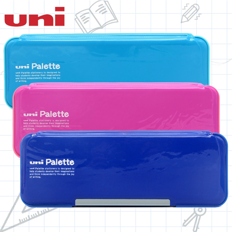Japan UNI Mitsubishi Imported Stationery Box P-1000BT Double-sided Double Open 235x 85x30mm
