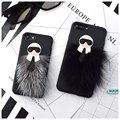 Karle Fur Cool Man Devil Fluffy Soft Case for iPhone 7 6 6S Plus