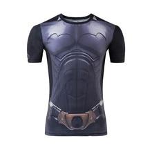 Moto New batman superman war 3D digital printing T-shirt man short sleeve T-shirt tight compression movement