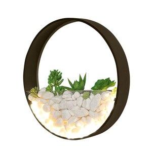 Image 5 - 北欧植物壁ライト創造ベッドサイドの寝室のランプの結婚式ルーム階段リビングルームシンプルでモダンな通路壁ランプ
