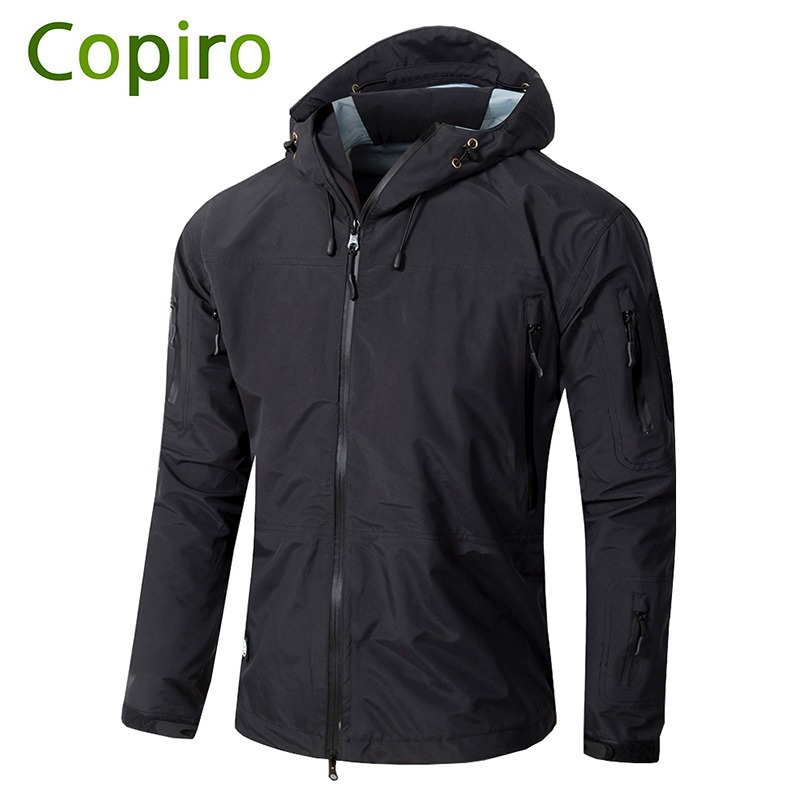 Copiro Hiking Jacket Men Waterproof Military Tactical Windbreaker Hardshell Shark Skin Sports Coat Camouflage Outdoor Clothing