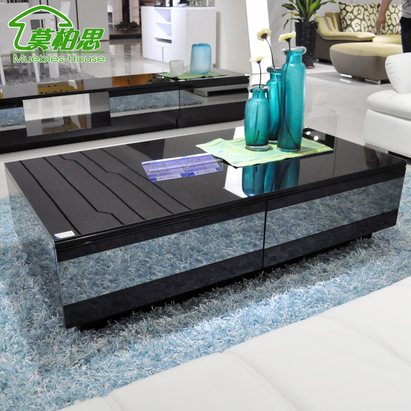 Mobo Si Simple Modern Coffee Table Drawer Gray Mirror TV Cabinet  Combination Of High End Coffee Table 12 Double Promotion In Coffee Tables  From Furniture On ...