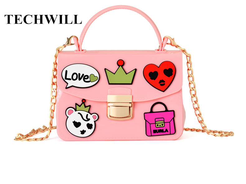 New Fashion Brand Silicone Shoulder Bag High Quality Women Jelly Messenger Bags Chain Strap Crossbody Bag For Cute Women