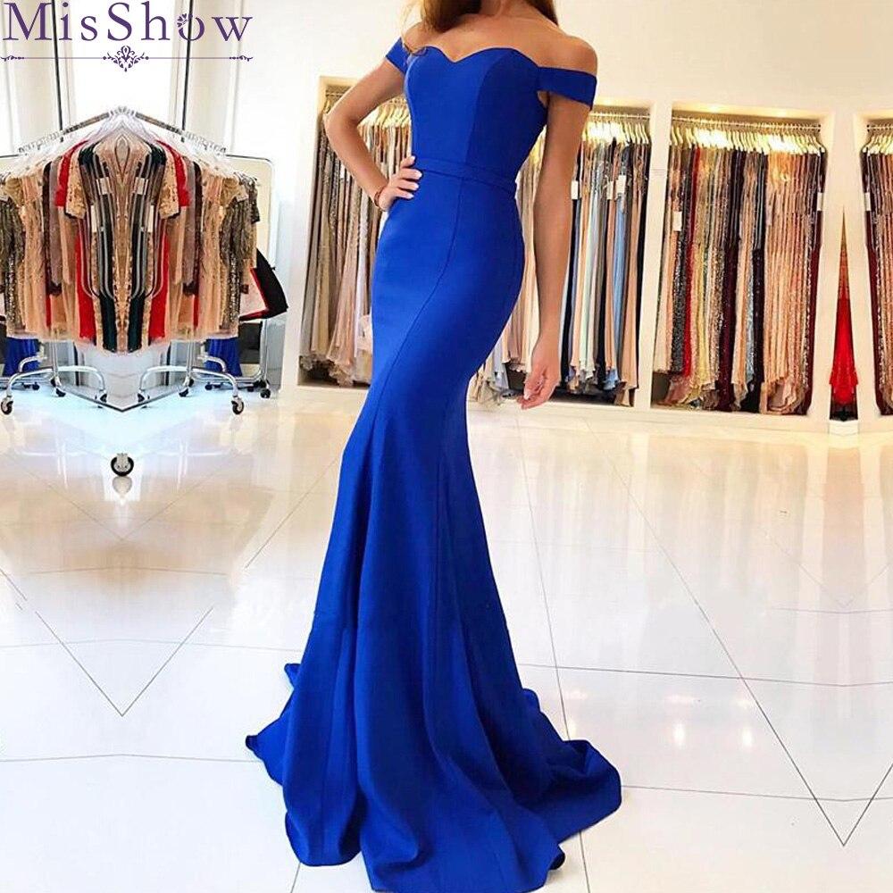 [Custom-made Backless Sweetheart Off the Shoulder Vintage Satin Mermaid   Bridesmaid     Dresses   Party Gowns Elegant Vestido De Festa