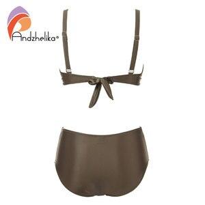 Image 5 - Andzhelika Cao Cấp Bikini Đồ Bơi Nữ Mùa Hè màu Trơn chất liệu vải cao cấp Bikini Bộ Plus Kích Thước Đồ Bơi Áo Tắm
