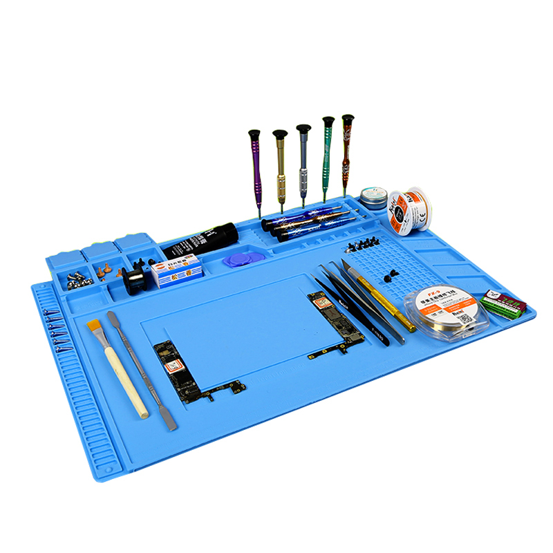 Image 4 - Heat resistant Soldering Mat Silicone Heat Gun BGA Soldering Station Insulation Pad Repair Tools Maintenance Platform Desk Mat