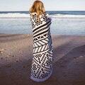 150 cm redondo beach towel con borlas servilleta de impresión reactiva toallas de playa de microfibra grande plage adulte 2016 bath towel