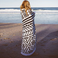 150CM Round Beach Towel With Tassels Microfiber Large Reactive Printing Beach Towels Serviette De Plage Adulte 2016 Bath Towel