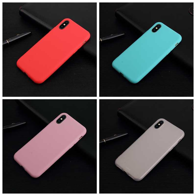 Shockproof Phone Case For iPhone 6 6s Case For iPhone 7 8 Plus Ultra Thin Cover For iPhone XS Max XR X Soft Silicon Matte Case