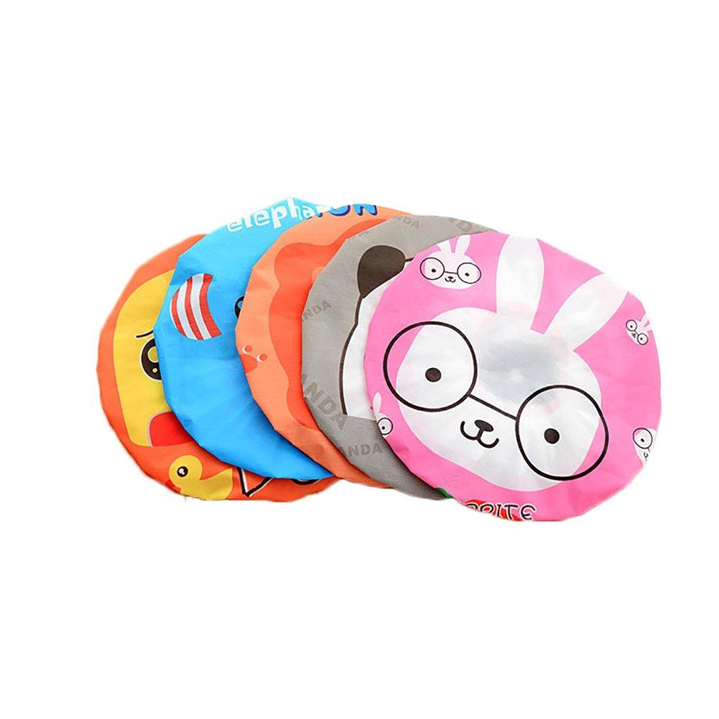 Waterproof Cute Cartoon Shower Cap Children Kids Swimming Bath Hat Hoods Bathroom Products Shower Bath Caps