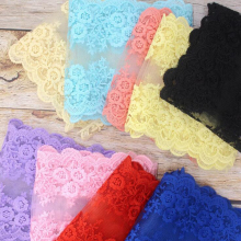 15 cm width elastic lace sewing ribbon guipure trim or fabric warp knitting DIY Garment Accessories 14 yards/lot