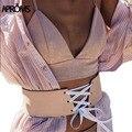 Boho кружева широкий Пояс Sexy тонкий кожа pu ремни корсет 2017 женщины cummerbunds женские модные аксессуары 60106