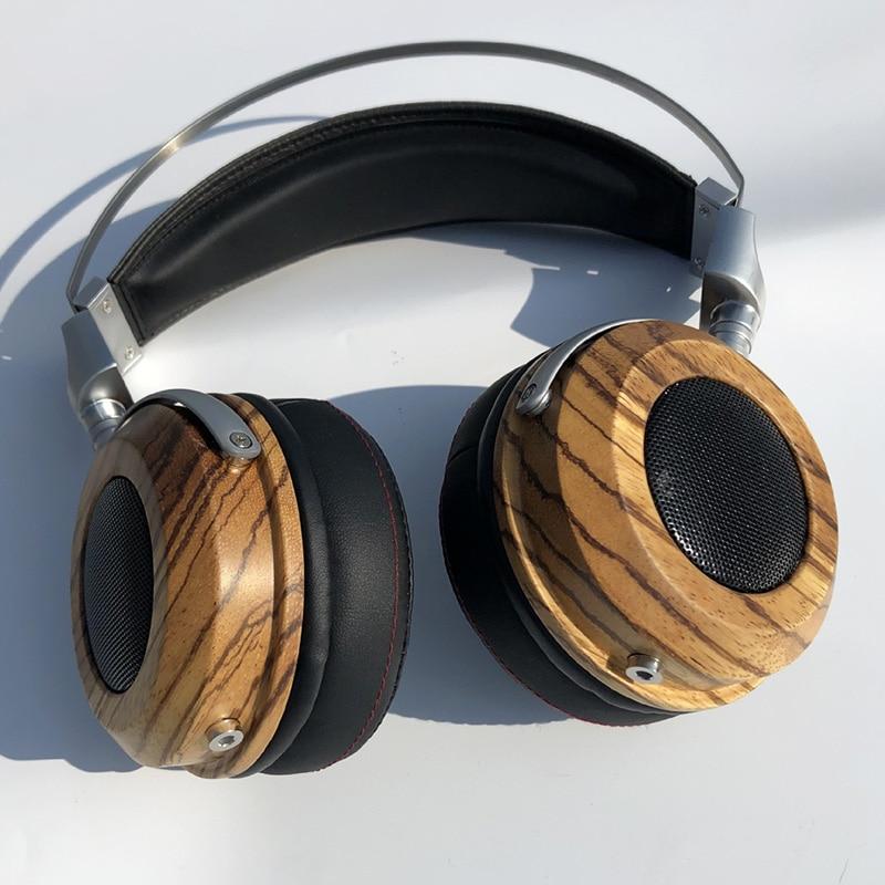 Bricolage dos ouvert boîtier casque 40MM 50MM haut-parleurs en bois casque casque coque housse bricolage dos ouvert boîtier casque