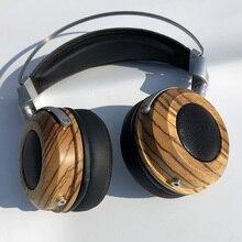 DIY açık arka kulaklık konut 40MM 50MM hoparlörler ahşap kulaklık kulaklık kabuk kapak kılıf DIY açık geri kulaklık konut