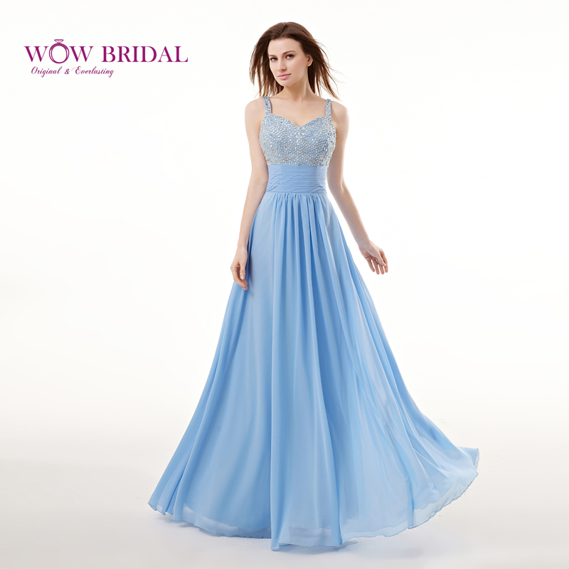 5535881075f Wowbridal Gorgeous Long Prom Dress 2015 Sexy Sweetheart Strap Crystal Sequins  Beaded Chiffon Draped A-
