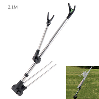 2 1m Fish Rod Stand Bracket Stainless Steel Telescoping Angle Adjustable Fishing Pole Holder
