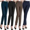 2016 Mulheres Leggings Moda Primavera Mulheres Calças de Fitness Calças de Treino de Algodão Fino Plus Size 5XL 6XL 7XL Jeggings Legging Preta
