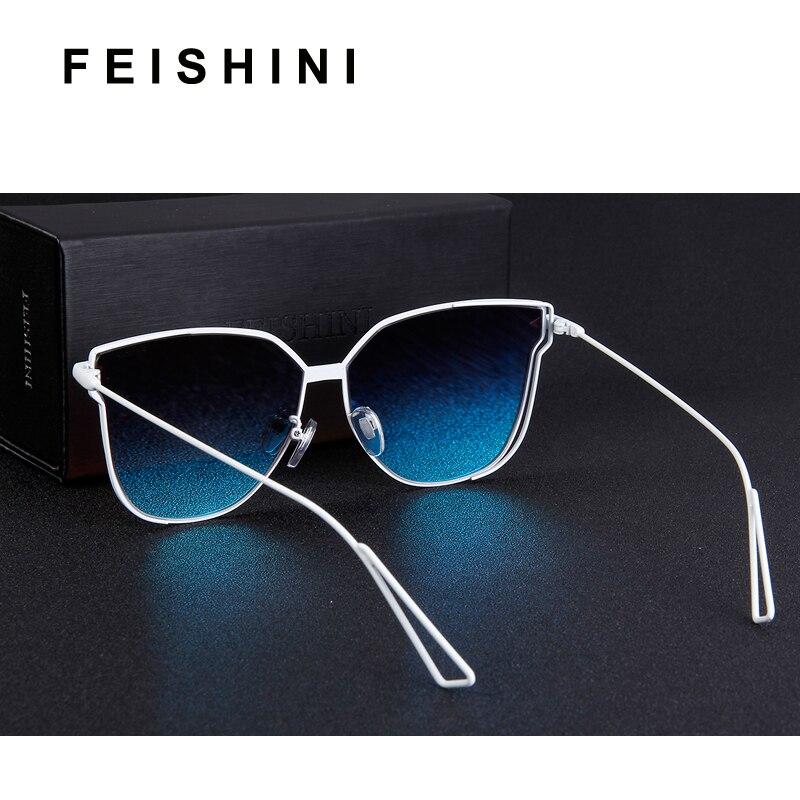 FEISHINI 2019 Metal Frame Butterfly Women Sunglasses Unisex Brand Design Mirror Fashion Trendy Pink Sunglass Female Gradient in Women 39 s Sunglasses from Apparel Accessories