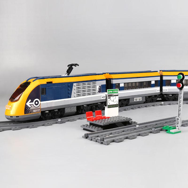 City Train 02117 Building blocks Compatibile con 60197 Passeggeri Treno Modello di Mattoni Educativi giocattoli per i bambini Regali-in Blocchi da Giocattoli e hobby su  Gruppo 2