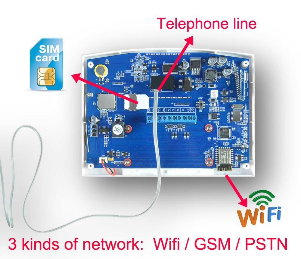 App Alarma de Intrusos con Detector C/ódigo de Coacci/ón Kit de Alarma Antirrobo Inal/ámbrica WiFi gsm y GPRS con LCD Pantalla Multilingue Control Remoto por WiFi