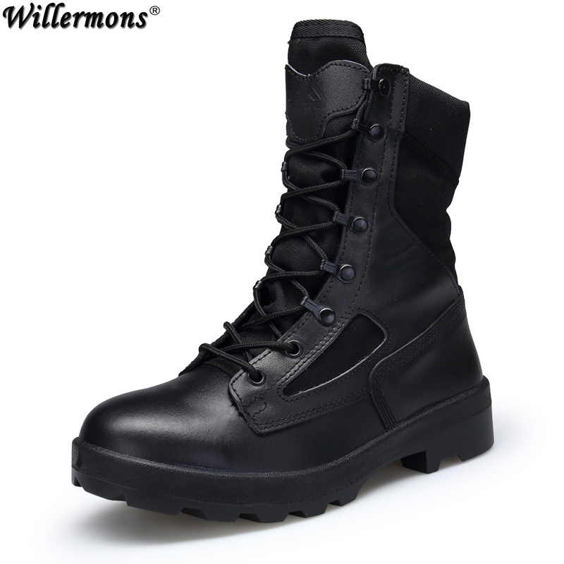 Military Outdoor Men's Anti-slip Desert Combat Safety Work Boots Shoes Men High Top Army Tactical Boots Botas Hombre men military delta special force tactical boots men s army outdoor desert combat boots shoes botas hombre