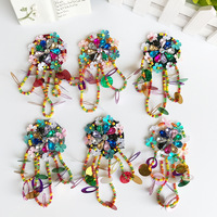 High-grade Brooch Hand Beaded tassels DIY Brooch European socks shoes bag gloves decorative patch