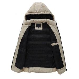 Image 3 - Mwxsd Brand Winter mens Warm sleeveless Vest men cotton hooded jacket male zipper Waistcoat for Autumn male gilet homme