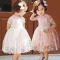 Girls royal style Lace dress high quality Party Birthday Kids Clothing Princess Dresses 2-7 years toddler girls dress