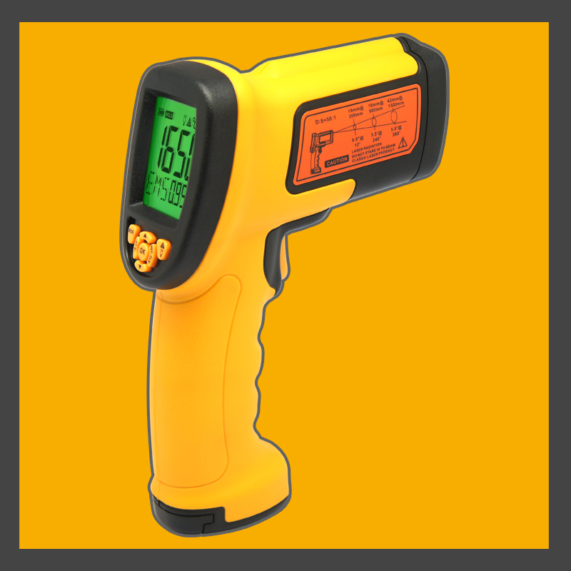 Smart Sensor AS882 Non-contact Laser LcdDisplay 50:1 Digital IR infrared thermometer Temperature Meter Gun Point -18~1650 Degree gm1651 benetech usb digital non contact ir infrared thermometer 50 1 laser sensor gun temperature meter 30 1650c